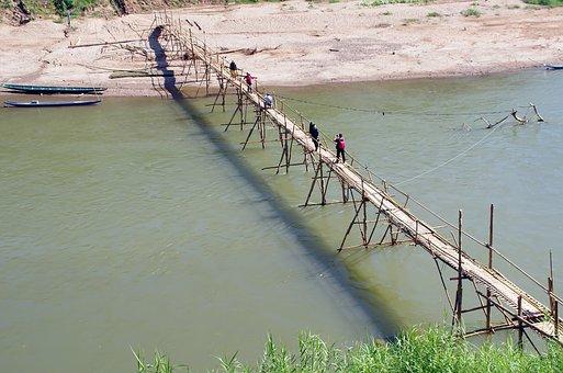 luang prabang Bambusbrücke