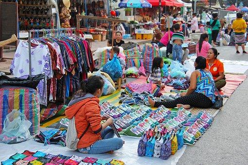 luang prabang Nachtmarkt 2