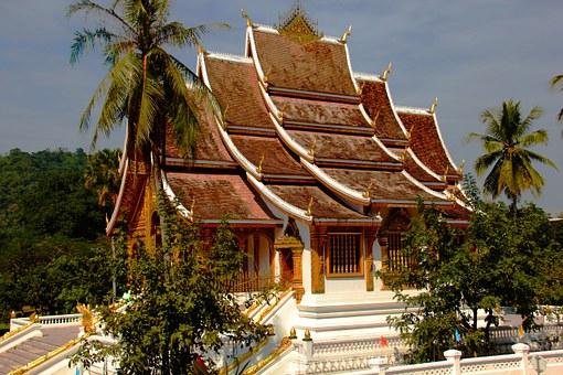 luang prabang Tempel Dach