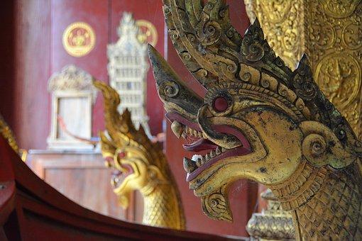 luang prabang tempel dragon