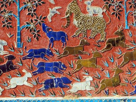 luang prabang Wat sen soukharam mosaik