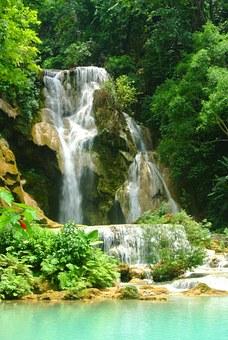 uang Prabang Wasserfälle kaskade